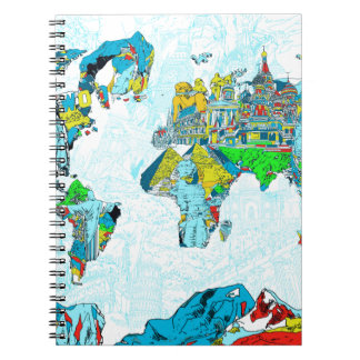 world map 6 notebooks