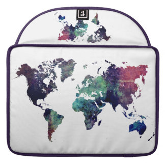 world map 6 sleeves for MacBook pro