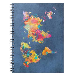 world map 8 notebook