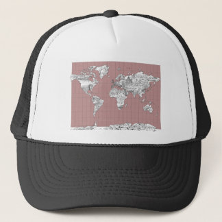 world map 8 trucker hat
