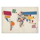 World Map Abstract Card
