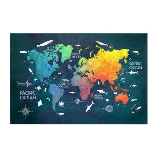 world map acrylic acrylic wall art