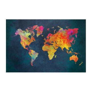 world map acrylic art