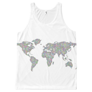 World map All-Over-Print tank top