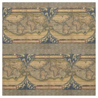 World Map Antique Ortelius Europe Fabric