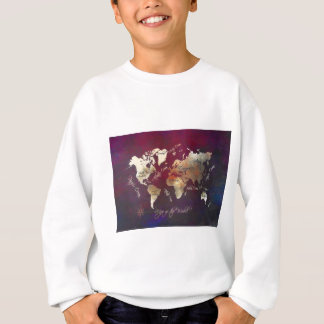 world map art sweatshirt