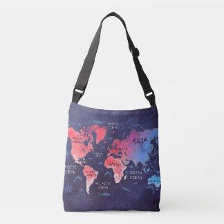 world map bag