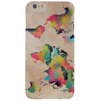world map barely there iPhone 6 plus case