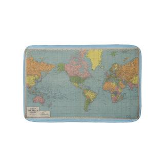 World Map Bathroom Mat