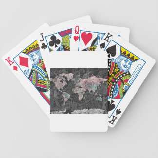 world map bicycle playing cards