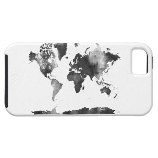 WORLD MAP BLACK and WHITE Case For The iPhone 5