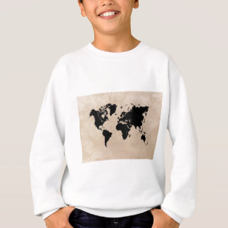 world map black sweatshirt