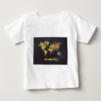 world map black yellow baby T-Shirt