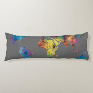 World Map Body Pillow