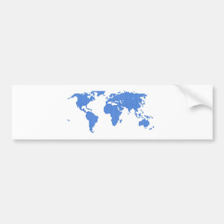 World Map Bumper Sticker
