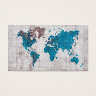 world map Business Cards