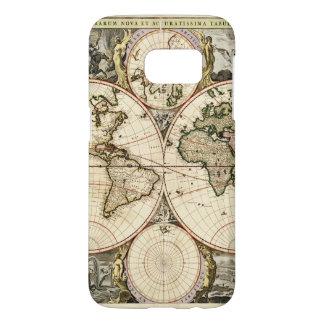 World Map by Nicolao Visscher circa 1690 Samsung Galaxy S7 Case