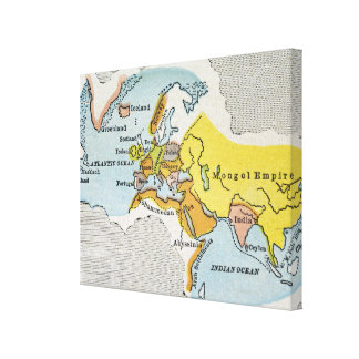 WORLD MAP, c1300. Canvas Print