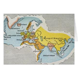 WORLD MAP, c1300. Card