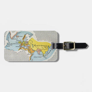 WORLD MAP, c1300. Luggage Tag