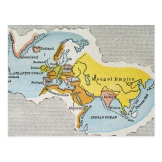 WORLD MAP, c1300. Postcard