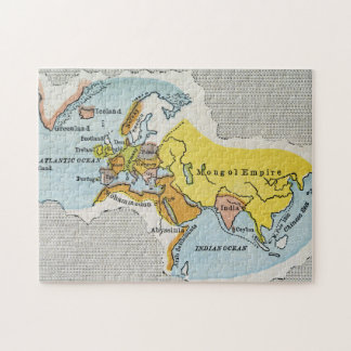 WORLD MAP, c1300. Puzzle