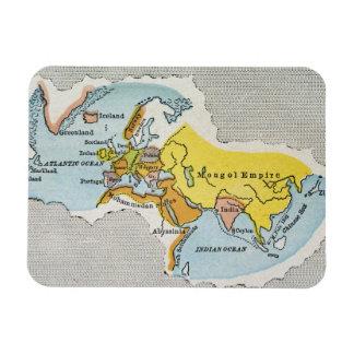 WORLD MAP, c1300. Rectangular Photo Magnet
