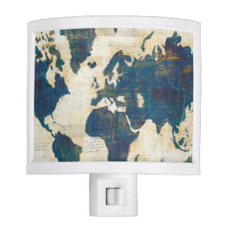 World Map Collage Night Lite