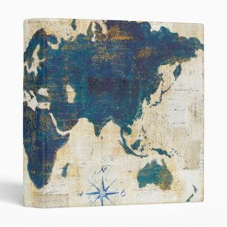 World Map Collage Vinyl Binder