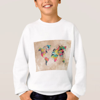 world map colors sweatshirt