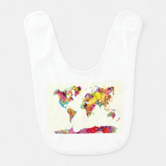world map colours bib