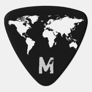 world map customizable guitar pick