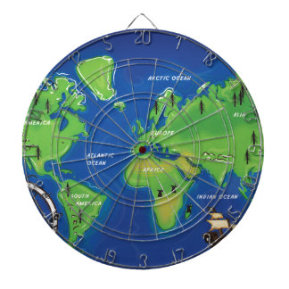 World Map Dartboard