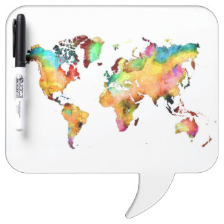 world map Dry-Erase whiteboards