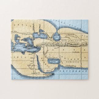 WORLD MAP: ERATOSTHENES JIGSAW PUZZLE