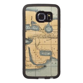 WORLD MAP: ERATOSTHENES WOOD PHONE CASE