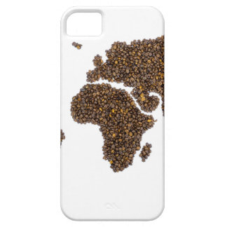 World map filled with coffee beans iPhone 5 covers