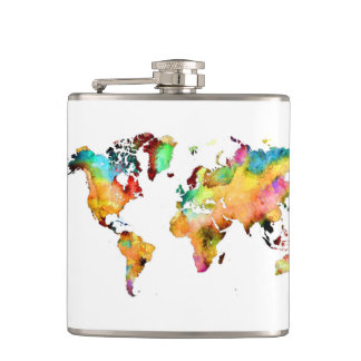 world map flask