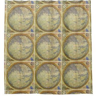 World Map FraMauro Shower Curtain
