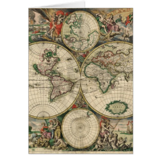 World Map from 1689 Card