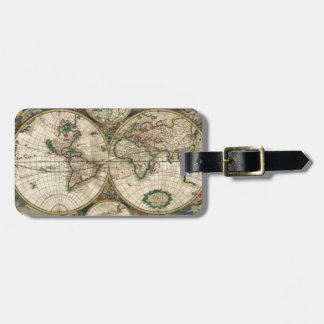 World Map from 1689 Luggage Tag