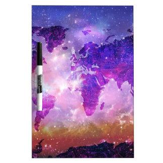 world map galaxy 1 dry erase board