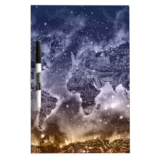 world map galaxy 2 dry erase whiteboard