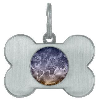world map galaxy 2 pet tag