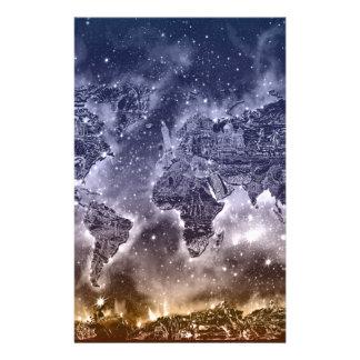 world map galaxy 2 stationery
