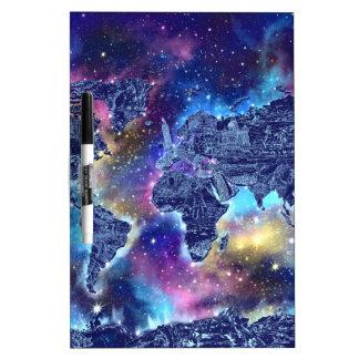 world map galaxy 3 dry erase board