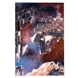 world map galaxy 4 dry erase board