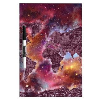 world map galaxy 5 dry erase board