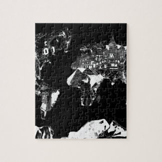 world map galaxy black and white 1 puzzles