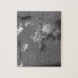 world map galaxy black and white 5 puzzle